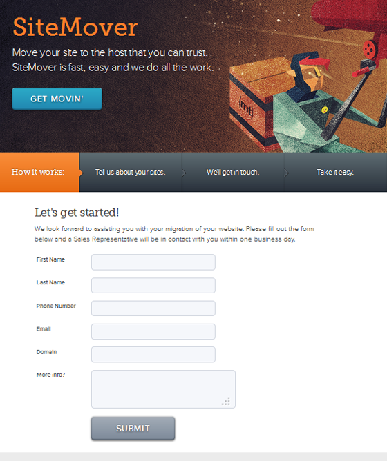 SiteMover Form Optimization