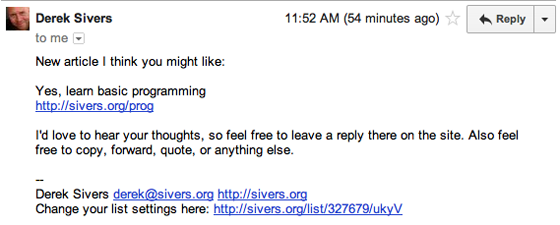 Sivers High Converting Email