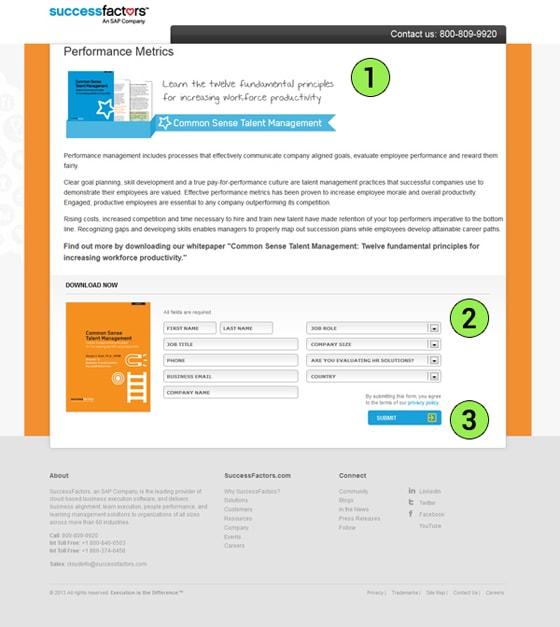 Success Factors Landing Page