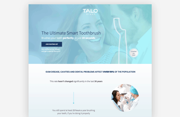 Ecommerce Landing Page: Talo Brush