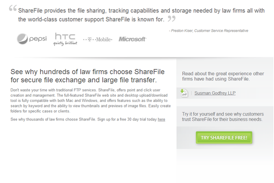 Testimonials that Convert sharefile