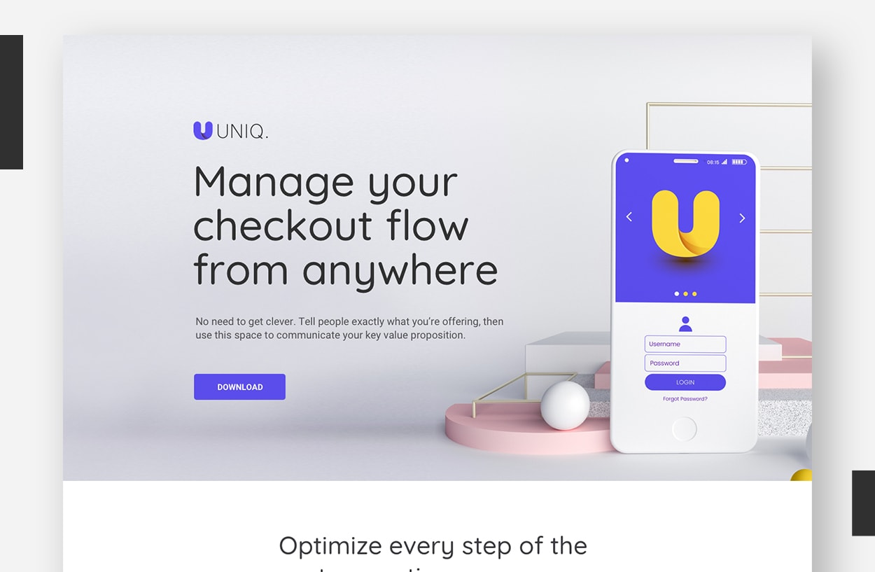 Landing Page Template Examples - FreshGoods (Revised)