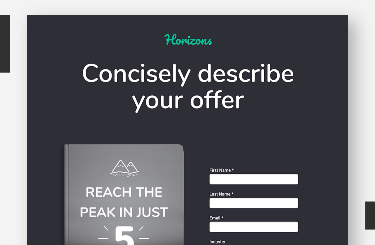 Landing Page Template Examples - Horizons
