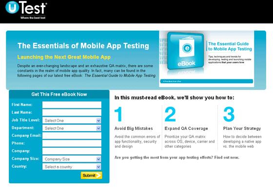 U Test Form Optimization