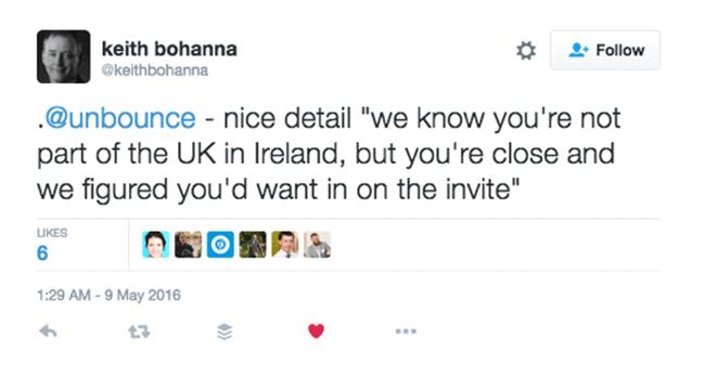 UK Marketing Day tweet