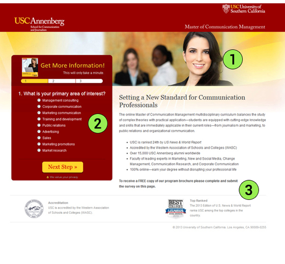 USC Annenberg Landing Page