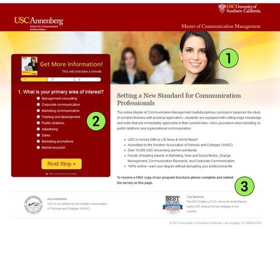 USC Annenberg Landing Page