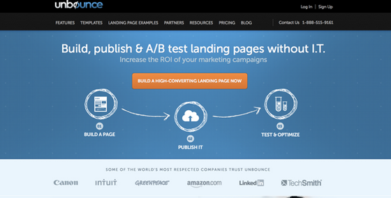 Unbounce Above The Fold