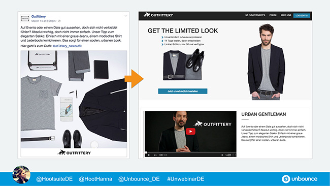 Unbounce Unwebinar Message Match Outfittery 1