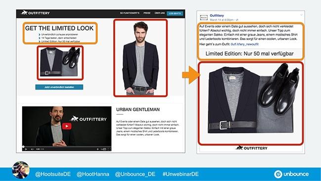 Unbounce Webinar Message Match Outfittery 2