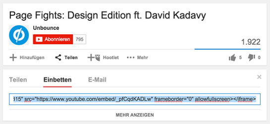 YouTube Growth Hack: Der Embed Code.