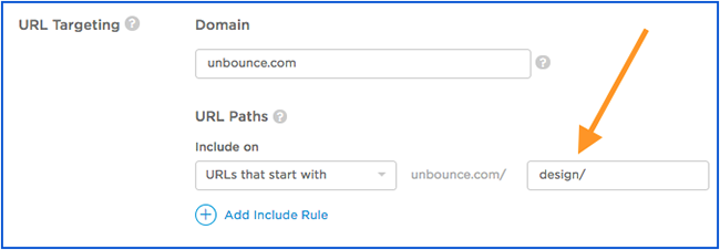 unbounce-targeting