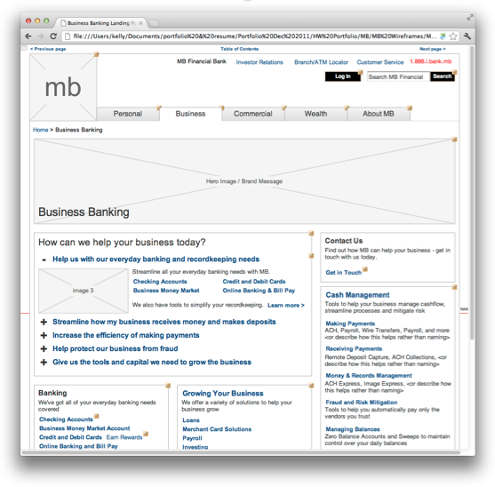 User Testing Landing Pages Wireframes