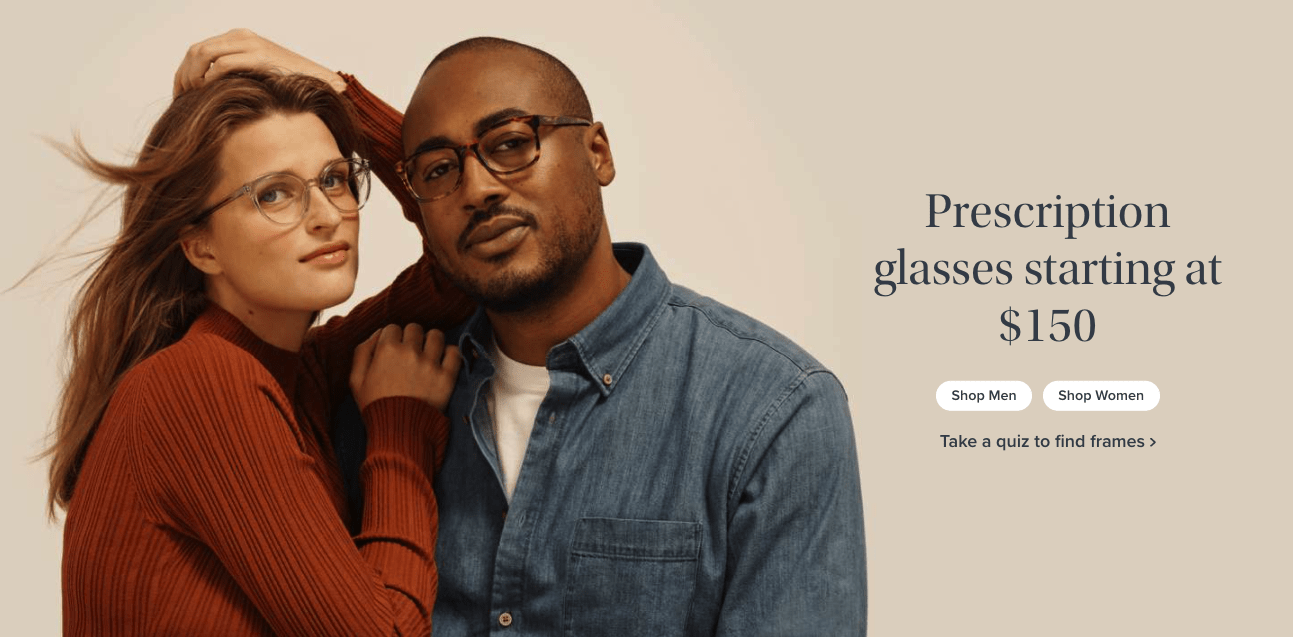 Landing Page Ideas - Warby Parker