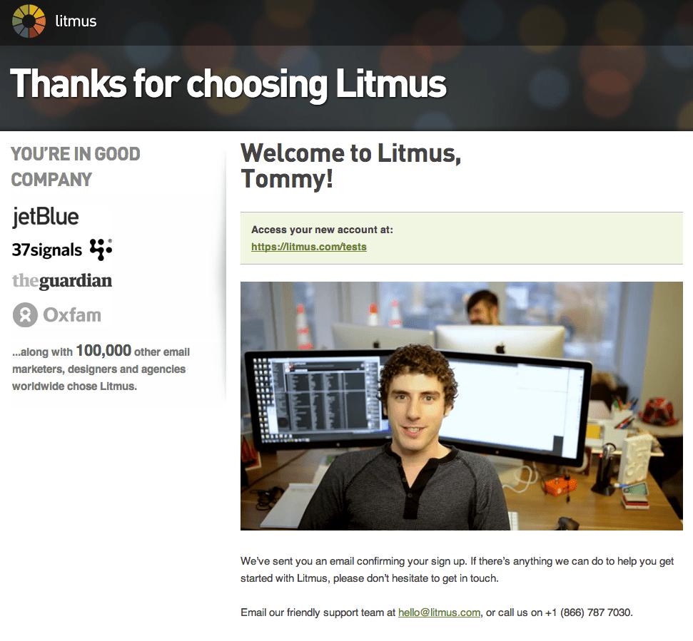 Welcome Litmus