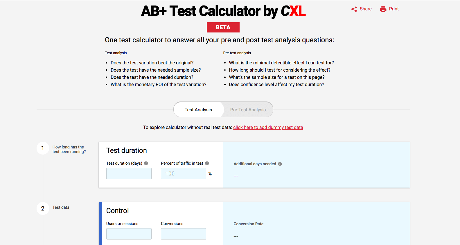 AB Test Calculator