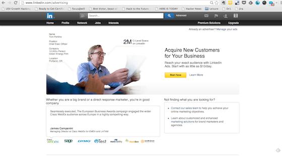 A/B testing: LinkedIn example