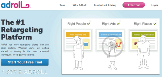 AdRoll Pay Per Click Retargeting