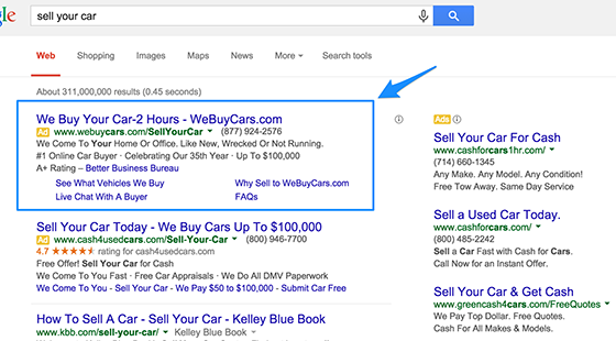 "what is SERP and ""Adwords Top"""