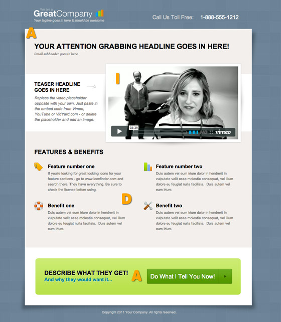 AIDA steps to lead you to the landing page CTA