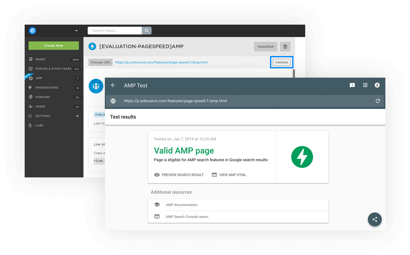 Your Shortcut to Lightning-Fast Speeds. AMP Landing Pages Come to Unbounce. 8