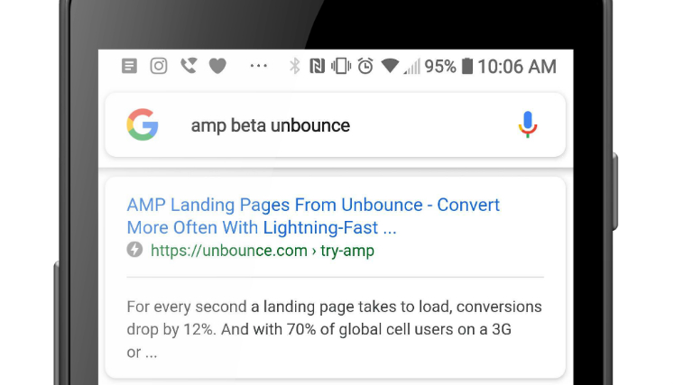 AMP in the SERPs