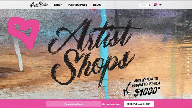 artist-shop-landing-page