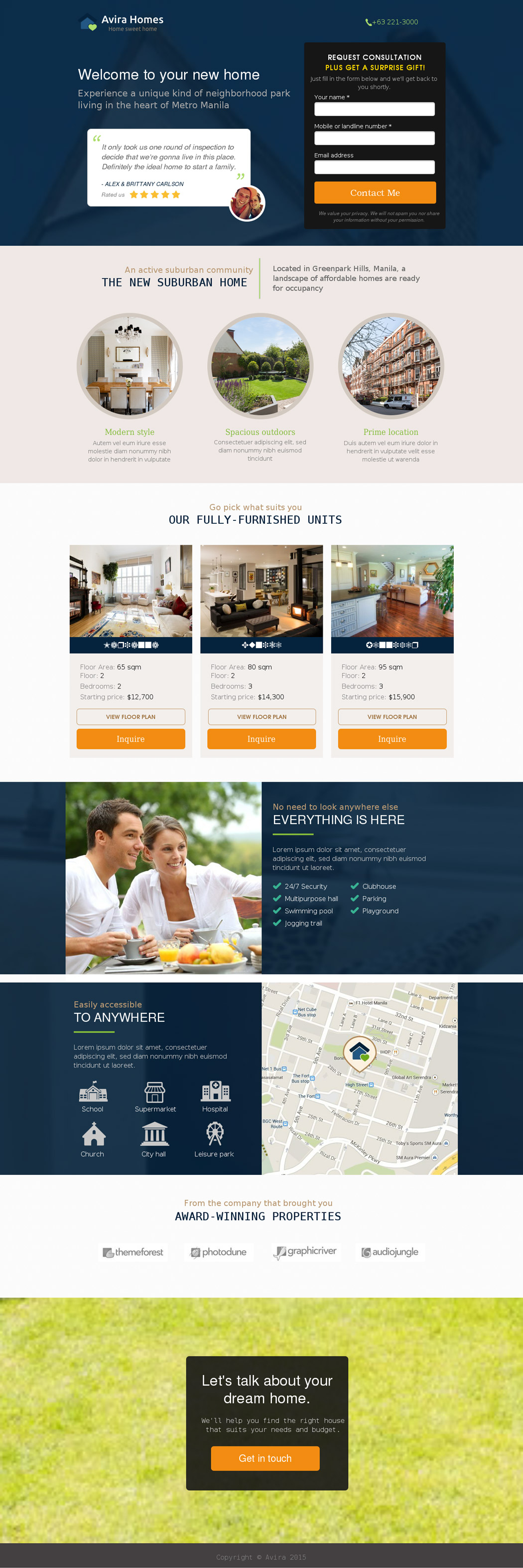 real estate landing page templates for your appraisal this is a landing page that would work well for someone selling multiple properties in a new suburban development for example from top to bottom