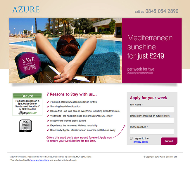 azue-landing-page