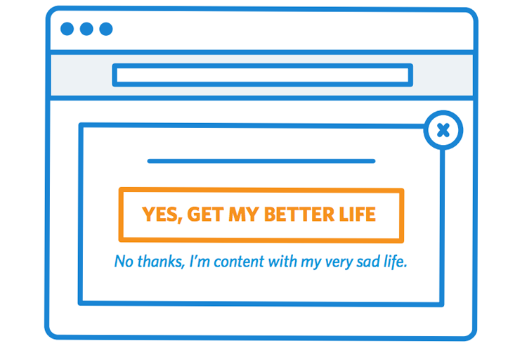 Stop blaming the popups for what bad marketers do.