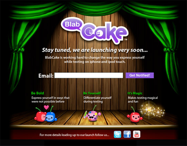 blab cake CTA copy