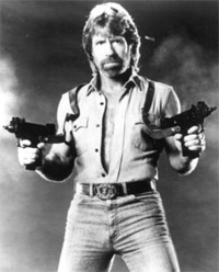 Logo's wait in line to be made bigger by Chuck Norris