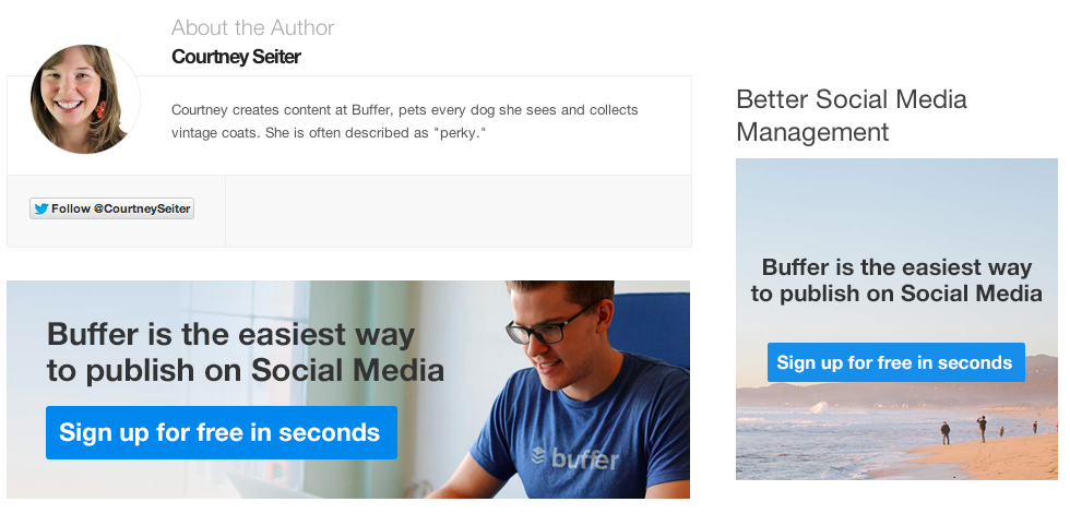 Content Marketing: Buffer CTA Example