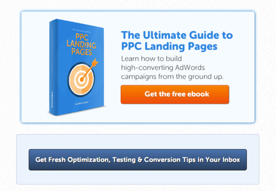 Content Marketing: Unbounce PPC CTA example