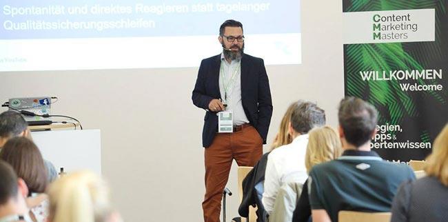 Bruno Kollhorst auf den Content Marketing Masters 2016