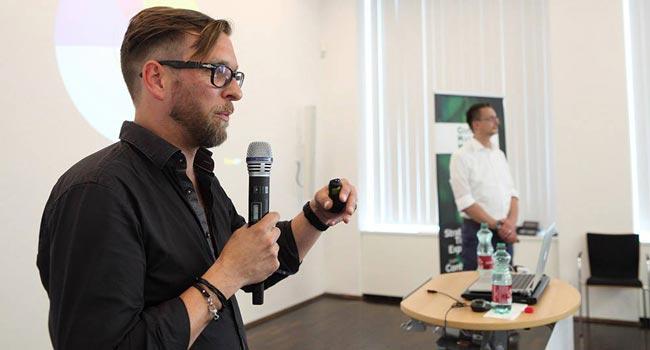 Christian Lea und Ingo Kahnt auf den Content Marketing Masters 2016