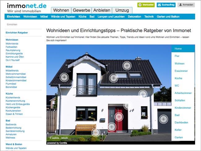 Content Marketing Masters: Interaktive Grafiken auf Immonet.de