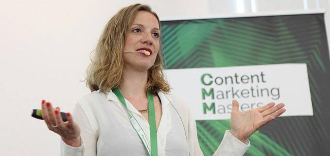 Svenja Teichmann auf den Content Marketing Masters 2016
