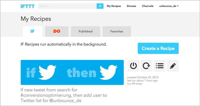 Content Marketing Tools: IFTTT