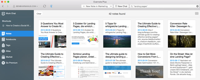 Content Marketing Tools: Evernote