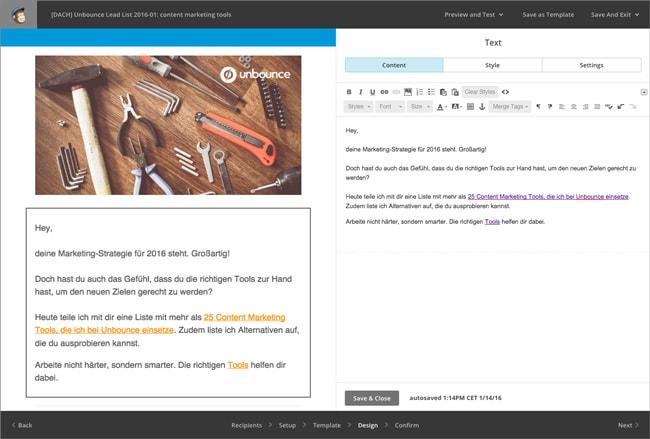 Content Marketing Tools: Mailchimp