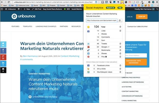 Content Marketing Tools: Social Analytics