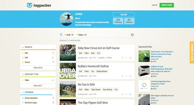 Content Marketing Tools: Tagpacker