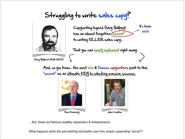 copywriting-copyhour-landing-page