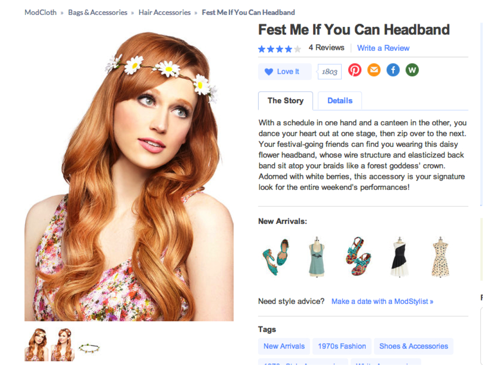 Copywriting: Modcloth product page example