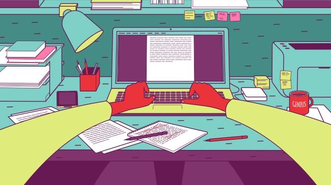 copywriter's workstation