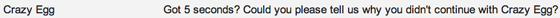 crazy egg email subject line