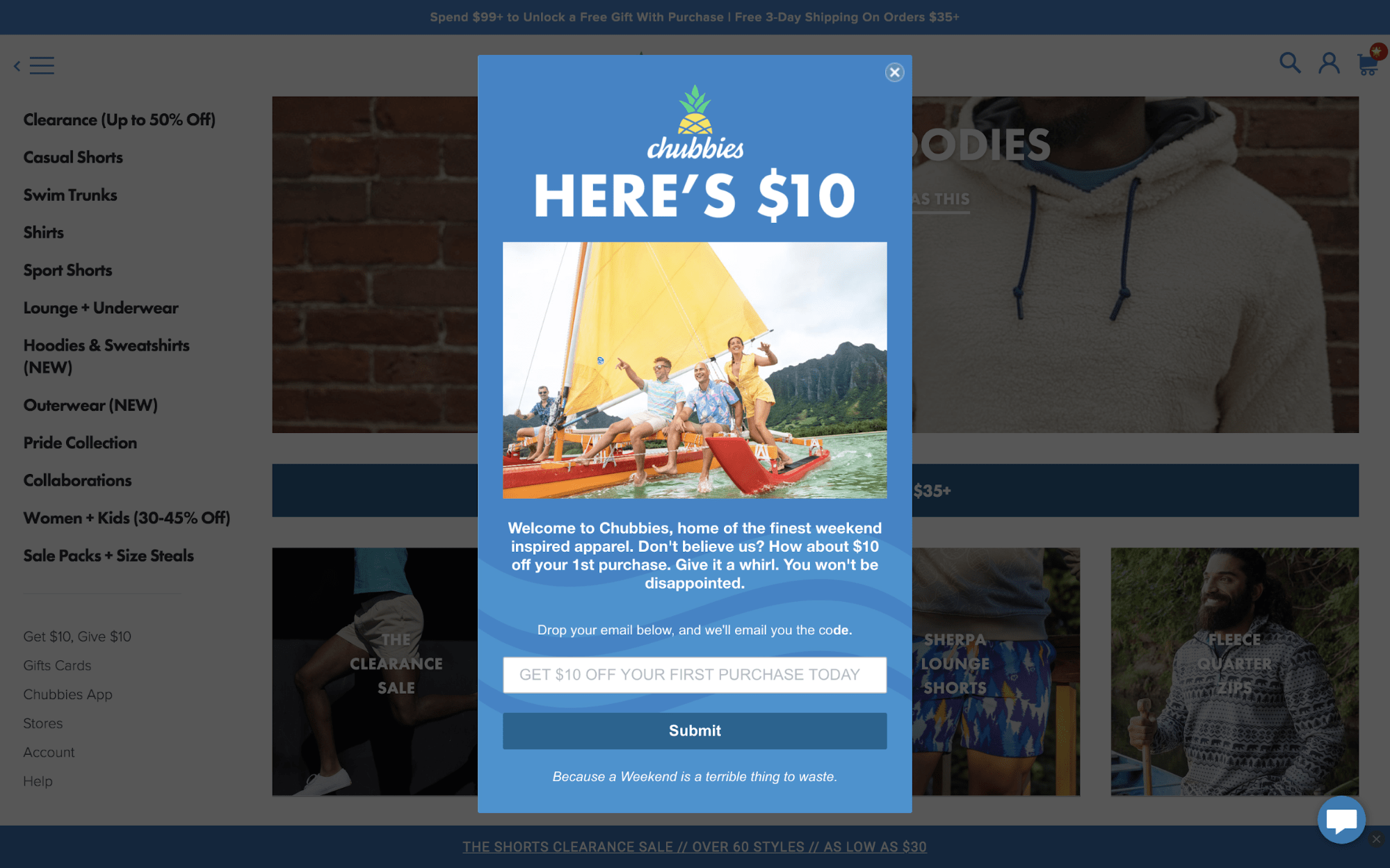 Creative Popup Examples - Chubbies