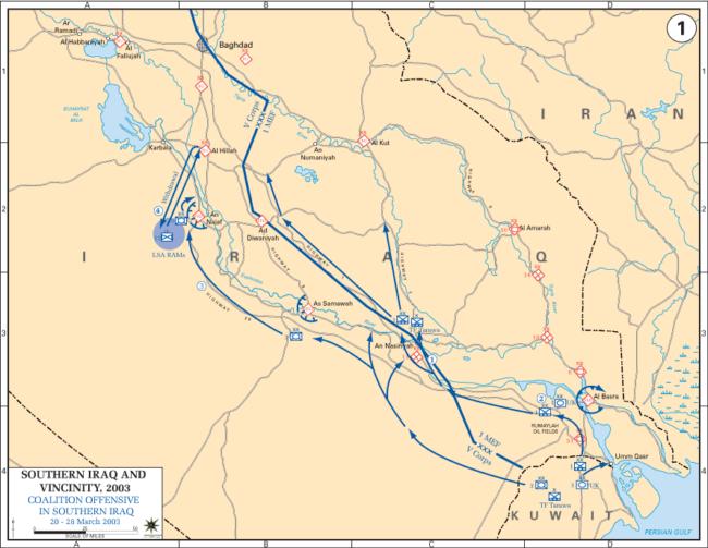 Tactica y estrategia en Invasión Irak 2003