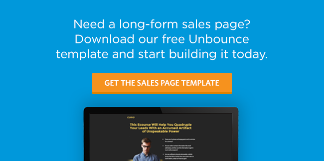 Long Form Sales Page